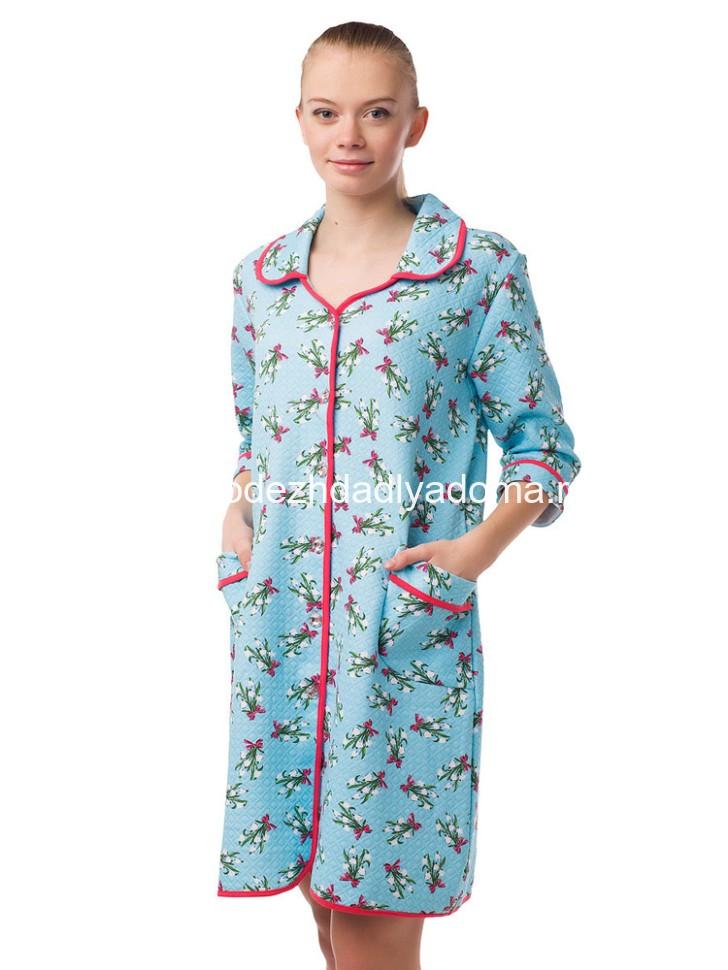 Женские халаты на пуговицах коротенькие оптом купить в Москве 55a8343e9f619